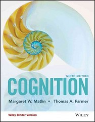 Cognition, Binder Ready Version 9th Edition 9781118983287 1118983289
