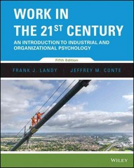 Work in the 21st Century 5th Edition 9781119178385 111917838X