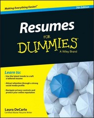 Resumes For Dummies 7th Edition 9781118982600 1118982606