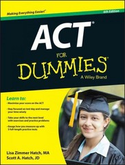 ACT For Dummies 6th Edition 9781118911563 1118911563
