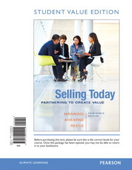 Selling Today 13th Edition 9780134004204 0134004205