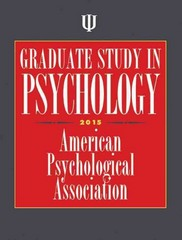 Graduate Study in Psychology 1st Edition 9781433817809 1433817802