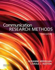 Communication Research Methods 3rd Edition 9780199338351 0199338353