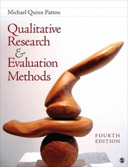 Qualitative Research & Evaluation Methods 1st Edition 9781483301457 1483301451