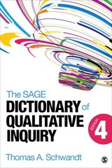 The SAGE Dictionary of Qualitative Inquiry 4th Edition 9781452217451 1452217459