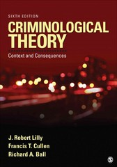 Criminological Theory 6th Edition 9781452258164 1452258163