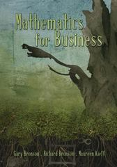 Mathematics for Business 1st Edition 9781497538511 1497538513