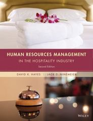 Human Resources Management in the Hospitality Industry 2nd Edition 9781118988503 1118988507