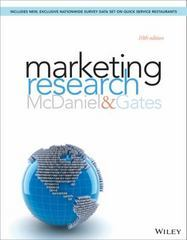Marketing Research 10th Edition 9781118808849 1118808843