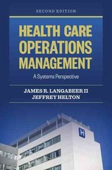 Health Care Operations Management 2nd Edition 9781284050172 1284050173