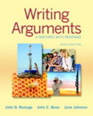 Writing Arguments 10th Edition 9780133881356 0133881350