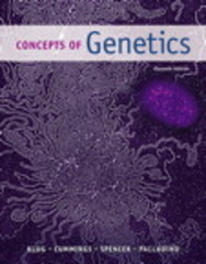 Concepts of Genetics 11th Edition 9780321948915 0321948912