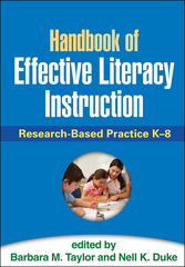 Handbook of Effective Literacy Instruction 1st Edition 9781462519248 1462519245