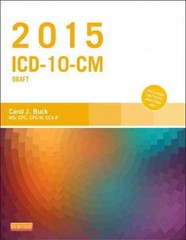 2015 ICD-10-CM Draft Edition 1st Edition 9780323352543 0323352545