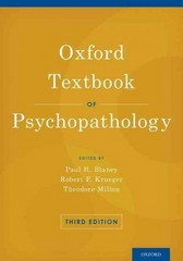 Oxford Textbook of Psychopathology 3rd Edition 9780199811847 0199811849