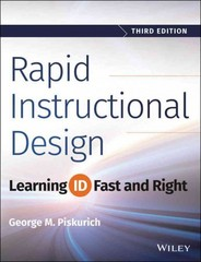 Rapid Instructional Design 3rd Edition 9781118973974 1118973976