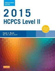 2015 HCPCS Level II Professional Edition 1st Edition 9780323279864 0323279864