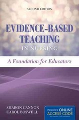 Evidence-Based Teaching In Nursing 2nd Edition 9781284074734 1284074730