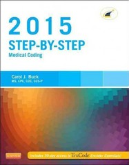 Step-by-Step Medical Coding, 2015 Edition 1st Edition 9780323279819 0323279813