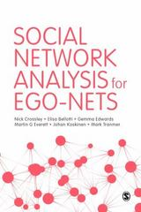 Social Network Analysis for Ego-Nets 1st Edition 9781446267769 1446267768