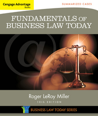 Cengage Advantage Books: Fundamentals of Business Law Today 10th Edition 9781305075443 1305075447