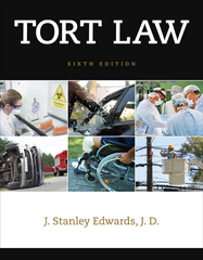 Tort Law 6th Edition 9781305537576 1305537572