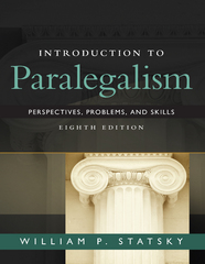 Introduction to Paralegalism 8th Edition 9781305686298 1305686292