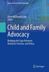 Child and Family Advocacy 1st Edition 9781493915736 1493915738