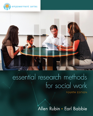 Empowerment Series: Essential Research Methods for Social Work 4th Edition 9781305101685 1305101685