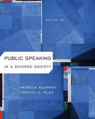 Public Speaking in a Diverse Society 3rd Edition 9781133523208 113352320X