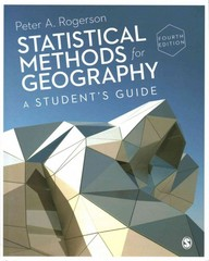 Statistical Methods for Geography 4th Edition 9781446295731 1446295737