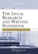 Legal Research and Writing 5th Edition 9780735567382 0735567387