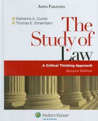 Study of Law 2nd edition 9780735569508 0735569509