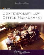 Contemporary Law Office Management 0 9780735572355 0735572356