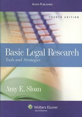 Basic Legal Research 4th edition 9780735576728 0735576726
