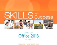 Skills for Success with Office 2013 Volume 1 & MyITLab with Pearson eText -- Access Card -- for Skills for Success with Office 2013 Package 1st Edition 9780133894264 0133894266