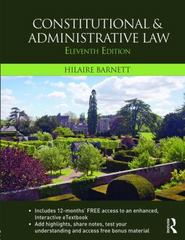 Constitutional & Administrative Law 11th Edition 9781138814769 1138814768
