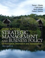 Concepts in Strategic Management and Business Policy Plus 2014 MyManagementLab with Pearson eText -- Access Card Package 14th Edition 9780133933161 0133933164