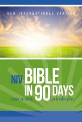 The NIV Bible in 90 Days 1st Edition 9780310439400 031043940X