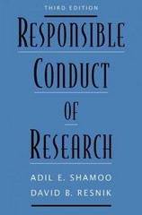 Responsible Conduct of Research 3rd Edition 9780199376032 0199376034