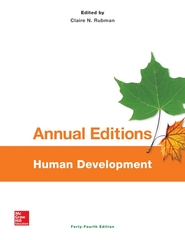 Annual Editions: Human Development, 44/e 44th Edition 9781259349393 125934939X
