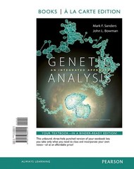 Genetic Analysis 2nd Edition 9780133982121 0133982122