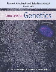 Student's Handbook and Solutions Manual for Concepts of Genetics 11th Edition 9780133796803 0133796809