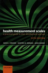 Health Measurement Scales 5th Edition 9780199685219 0199685215