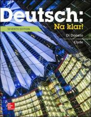 Deutsch: Na klar! 7th Edition 9780073386355 0073386359