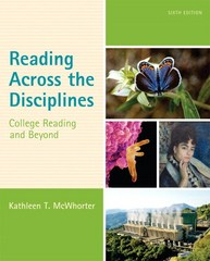 Reading Across the Disciplines 6th Edition 9780133957853 0133957853