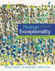 Human Exceptionality 12th Edition 9781305500976 1305500970