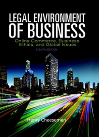 Legal Environment of Business 8th Edition 9780134002460 0134002466