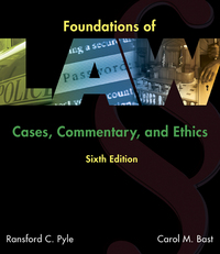 Foundations of Law 6th Edition 9781305505001 130550500X