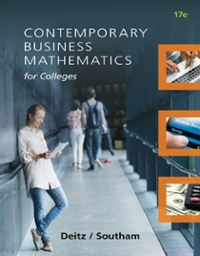 Contemporary Business Mathematics for Colleges 17th Edition 9781305506688 1305506685